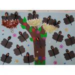 plastic spoon crow bulletin board idea