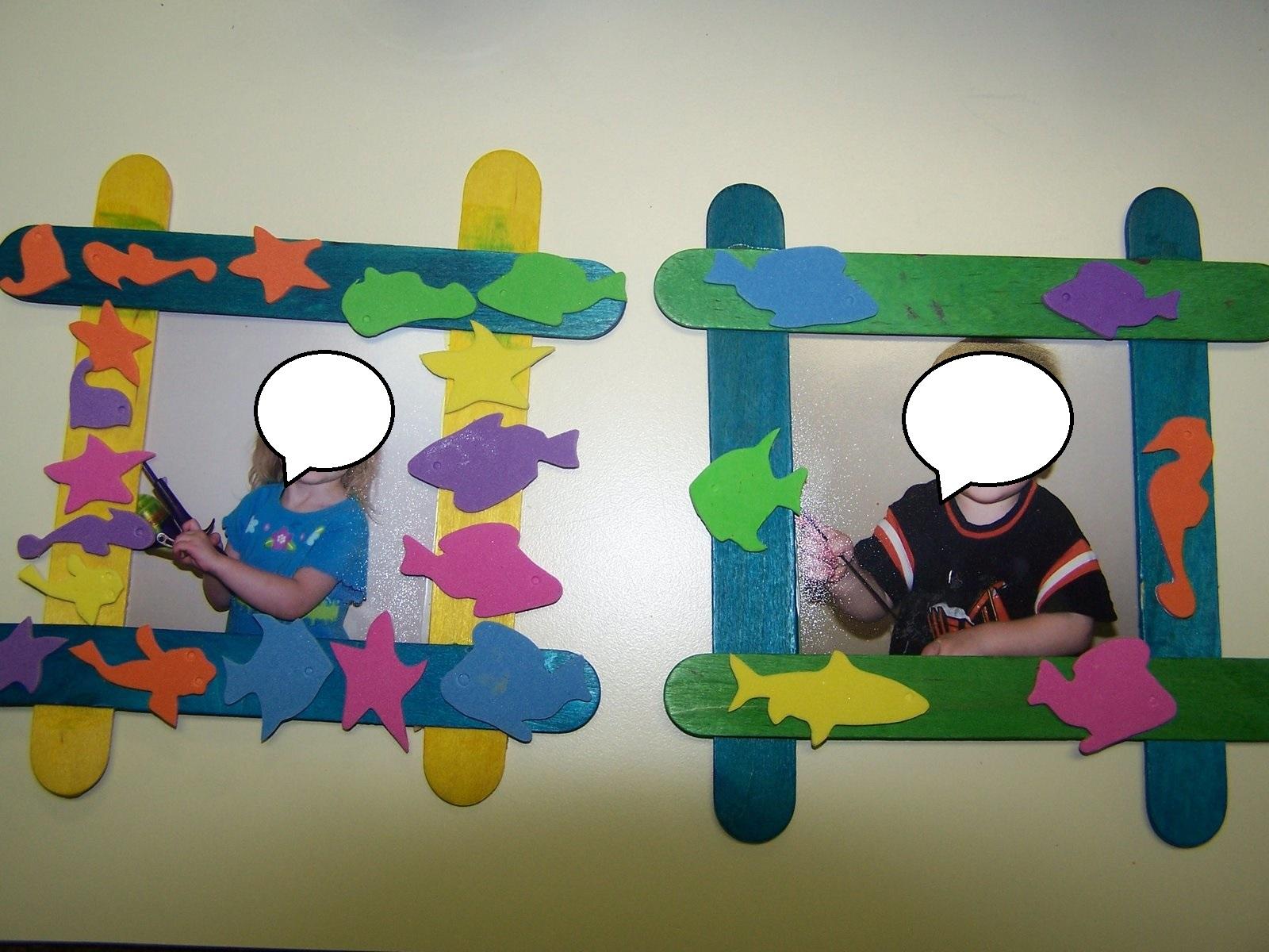 Popsicle Stick Frame Craft