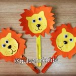 popsicle stick lion craft idea