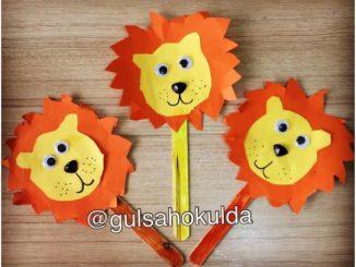 popsicle stick lion craft idea