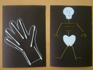 skeleton craft idea for kindergarten