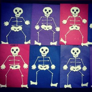 skeleton craft idea for toddlers