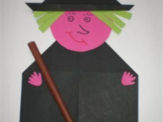 origami witches craft