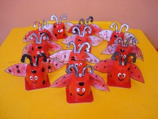 yogurt-cup-ladybug-craft-idea