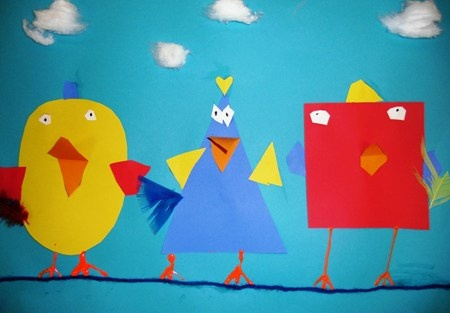 Shape-birds-craft