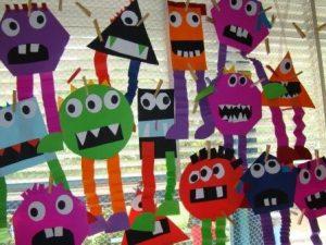 Shape-monsters-craft-idea-for-kids