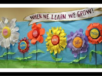 Spring-School-Bulletin-Board-idea