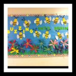 Spring-bulletin-board-idea