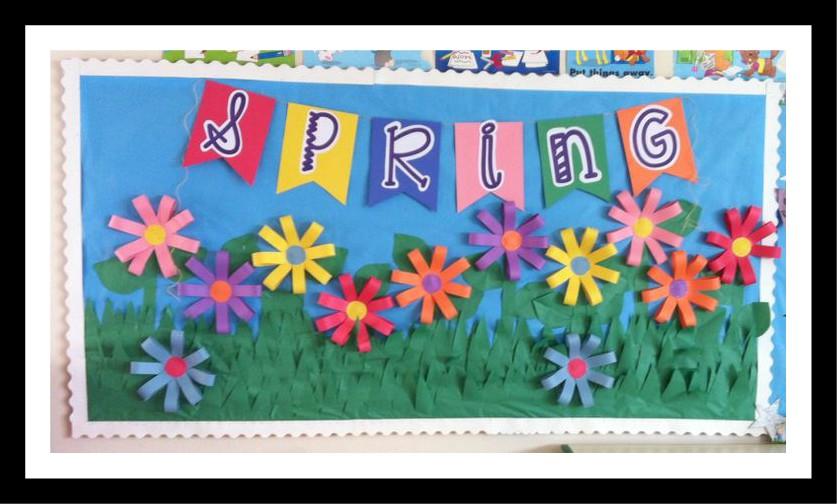 Spring-flower-bulletin-board-ideas