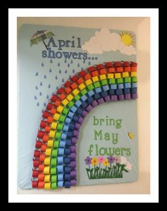 april bulletin board idea