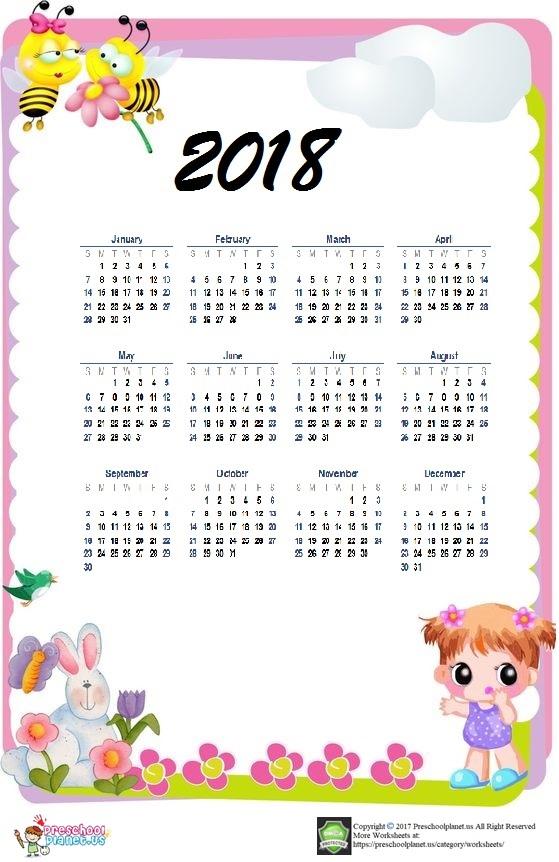 calendar 2018 clipart