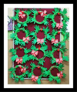 christmas wreath craft idea