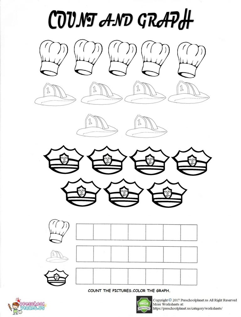 community helpers graph worksheet for kids