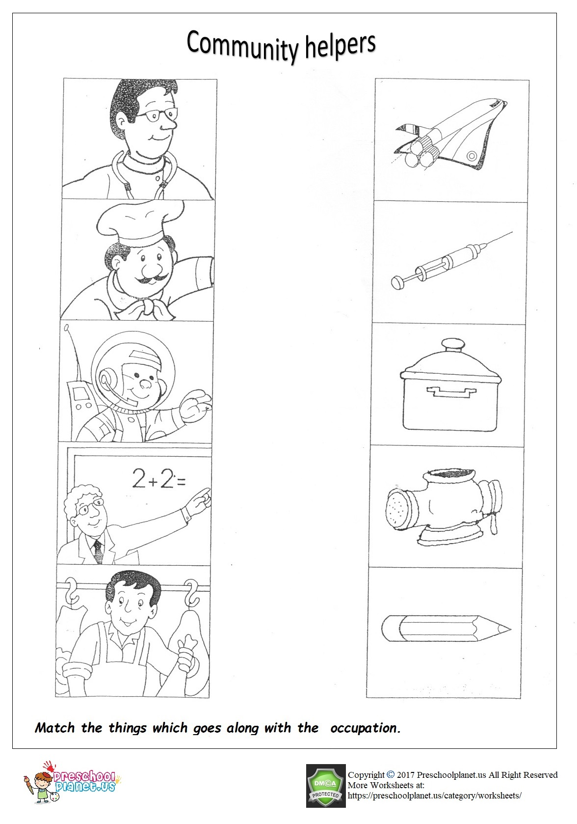 worksheet Community Worksheets community helpers worksheet for kindergarten