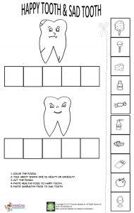 dental health week worksheet for kids