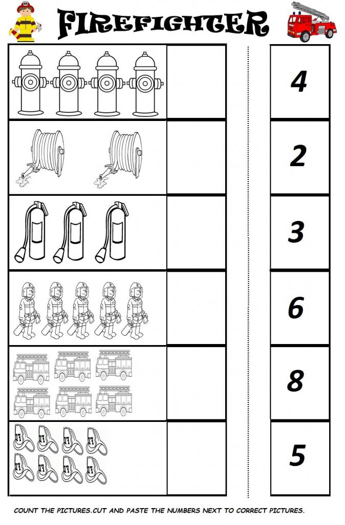 fireman worksheets for kids