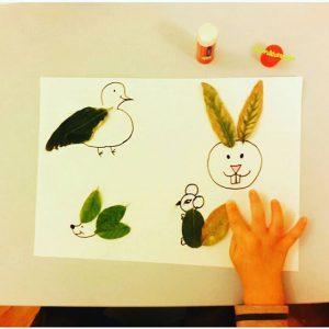 leaf animals craft idea