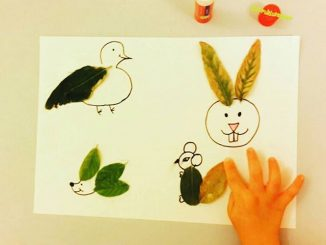 leaf animals craft idea