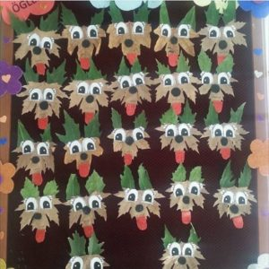 leaf dog craft idea