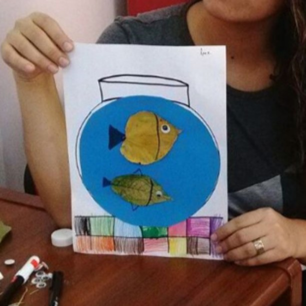 leaf fish craft idea