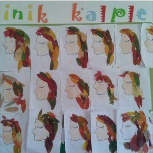 leaf girl craft idea
