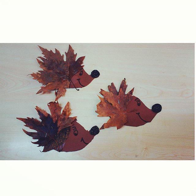 leaf hedgehog craft idea