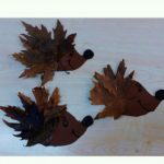 leaf hedgehog craft idea