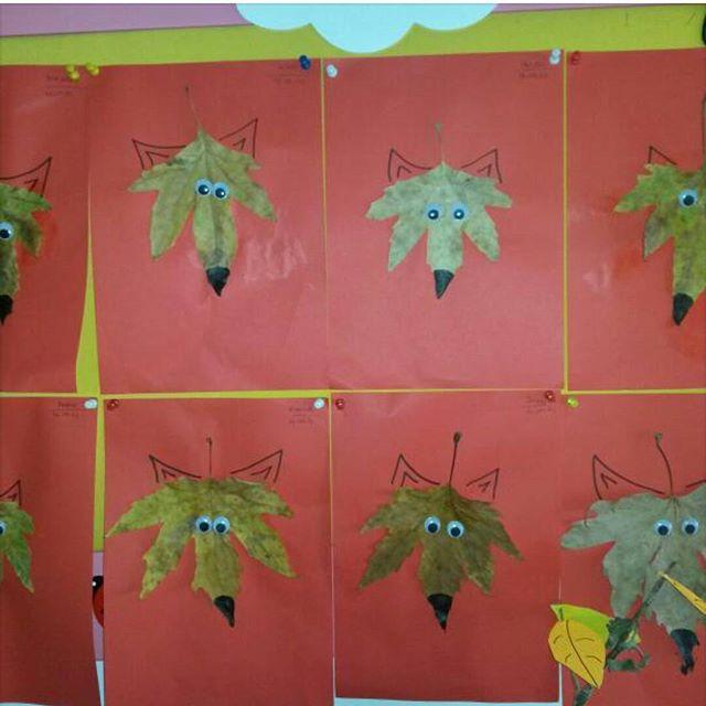 leaf wolf craft idea