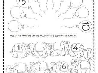 missing number worksheet for kids
