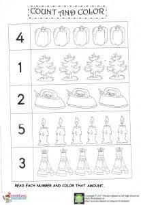 number count worksheet for preschool