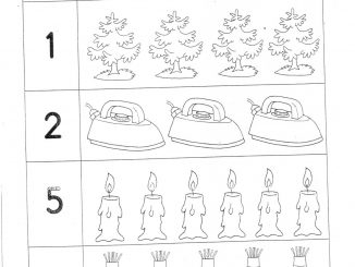 number count worksheet for preschool