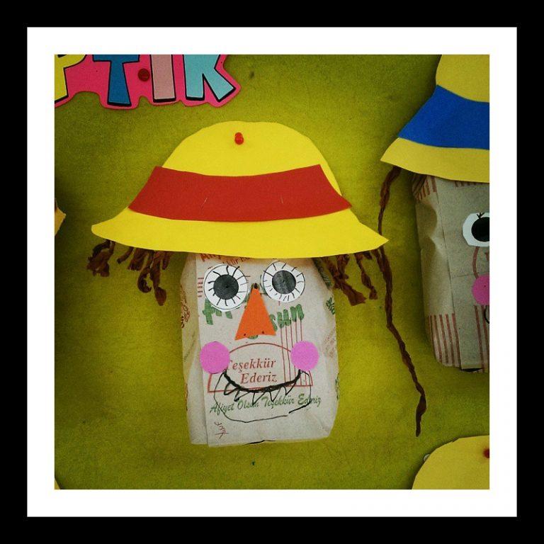 paper bag scarecrow craft idea