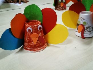 paper cup turkey craft idea