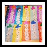 paper doilies snowman craft