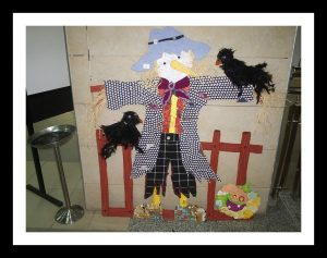 scare crow bulletin board idea