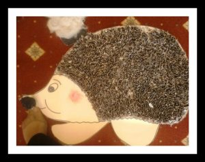 seed hedgehog craft