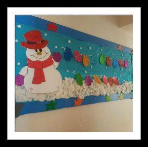snowman bulletin board idea for preschool
