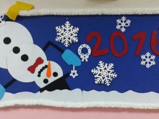 snowman calendar craft 2018