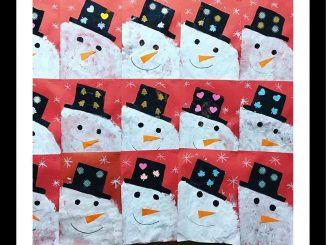 snowman craft for kindergarten