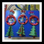 snowman craft idea for kindergarten