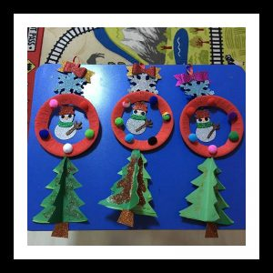 snowman craft idea for kindergarten