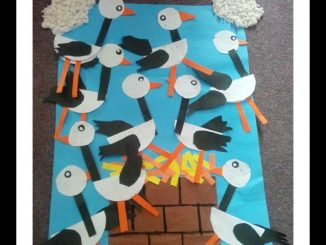 stork bulletin board idea or fall season