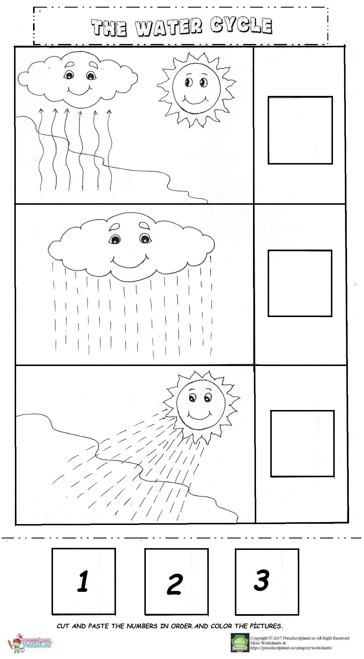 the water cycle worksheet