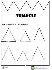 triangle worksheet for kids