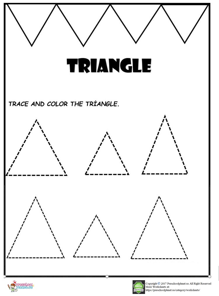 triangle worksheet for kids