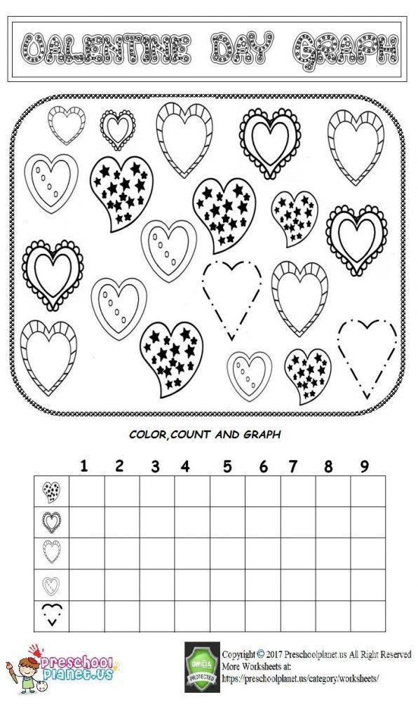 valentine day graph worksheet