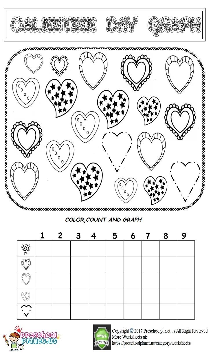 valentine day graph worksheet