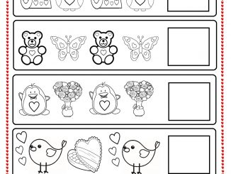 valentine's day pattern worksheet for kids