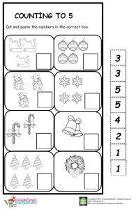 winter count number worksheet for kids