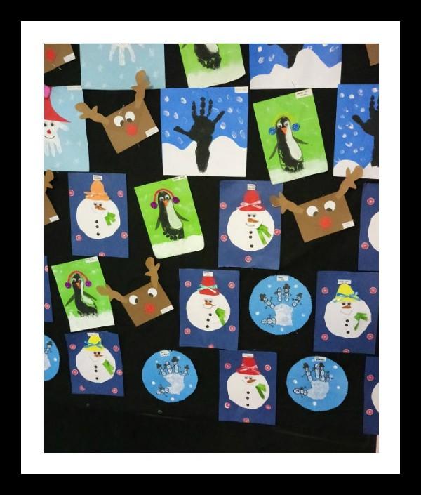 winter craft idea for kindergarten